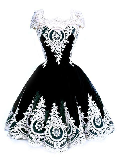 Black And White Vintage Dress white lace stitching black vintage hepburn midi dress with sleeve wsdear