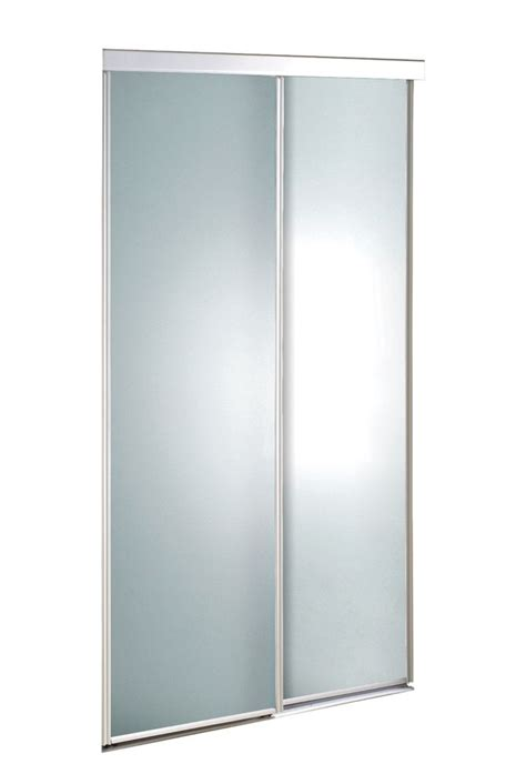 72 Sliding Closet Doors by Veranda 72 Inch White Framed Frosted Sliding Door The