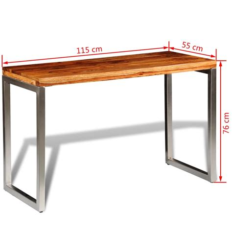 tavolo scrivania tavolo da pranzo scrivania in legno di sheesham con gambe