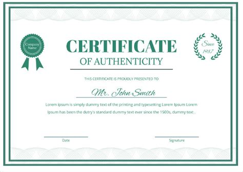 letter of authenticity template images templates design