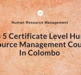 Mba In Human Resources Management Of Colombo by Human Resource Management Archives Sri Lanka Course