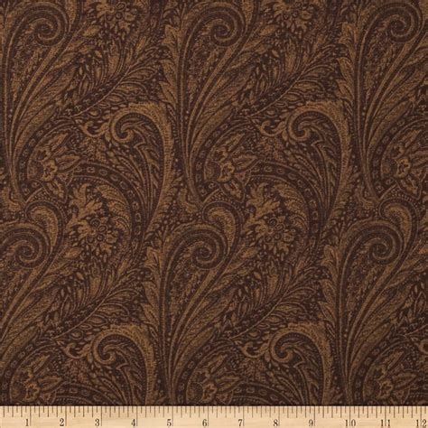 brown paisley upholstery fabric 118 quot wide lauren paisley brown discount designer fabric