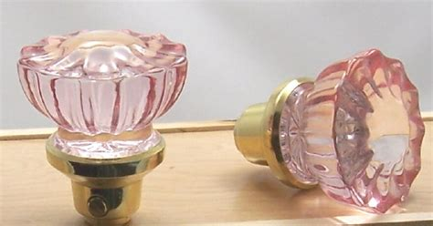 Replacing Door Knobs With New Ones by One Pair True Pink Fluted Glass Antique