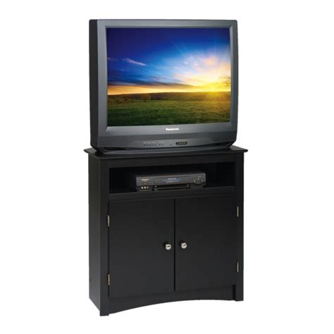Best Buy Cabinet Tv by Prepac 32 Quot 2 Shelf Tv Stand Cabinet Black Tv Stands