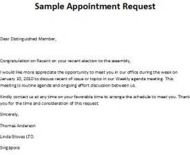 Request Appointment Letter Sample Meeting Appointment Letter Samples
