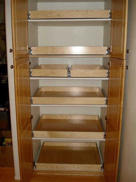 Sliding Shelves For Kitchen Cabinets by Pantry Shelving Pullout Drawer Pullout Shelf Pantry