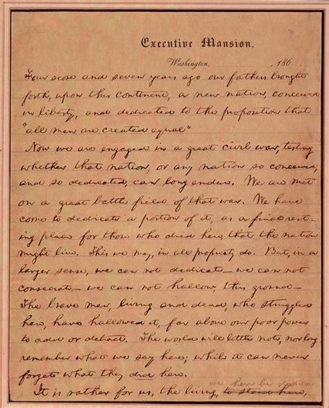 where did lincoln write the gettysburg address 1000 ideas about gettysburg address speech on