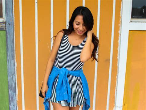 Hq 4866 Strapless Stripe Blouse Bow stripes positivity beyoutiful