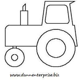 Drawn Tractor Stencil Pencil And In Color Drawn Tractor Stencil Tractor Template For Preschoolers