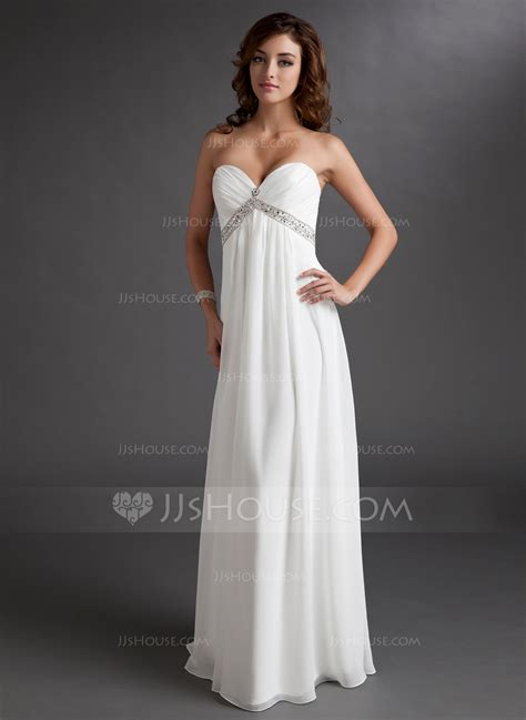 vestidos de novia rom 225 nticos vestidos para boda empire sweetheart floor length chiffon wedding dress with