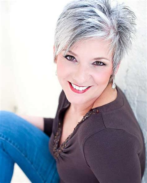 grey hairstyles for long faces short choppy pixie hairstyle with shaved side fashion qe