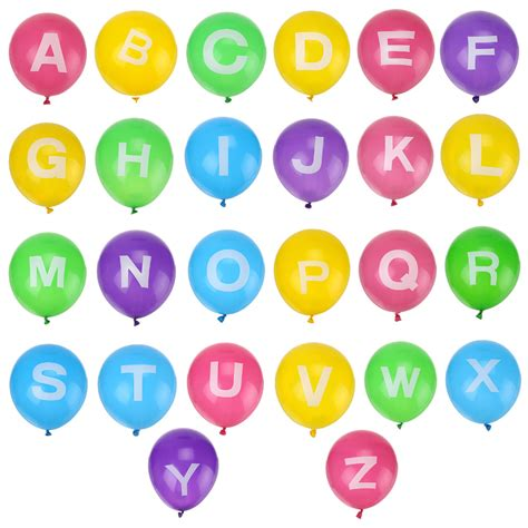 Balon Bentuk Dadu Happy Birthday 5 pcs 12 quot alphabet a z 26 letters balloon ideal
