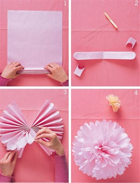 How To Make Paper Decorations For Baby Shower - easy diy paper flowers pretty decorations for a bridal