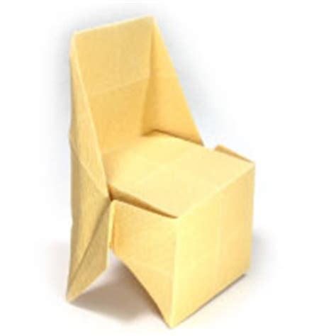 Origami Swivel Fold - how to make origami chair