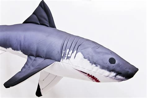 big shark pillow gaby great white shark pillow 120cm glasgow angling centre