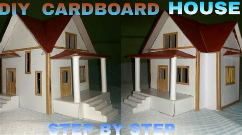 how to make a cardboard house step by step youtube