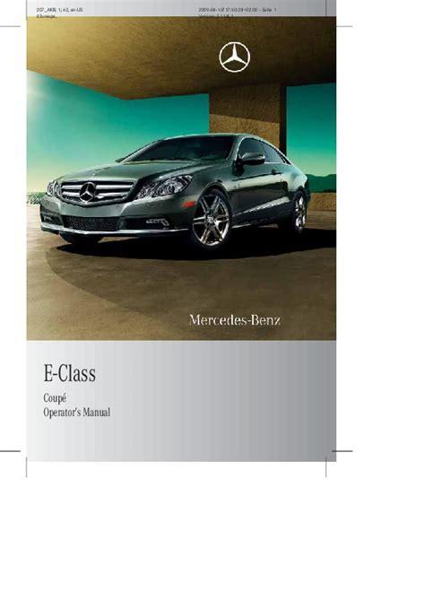 auto manual repair 2010 mercedes benz e class lane departure warning 2010 mercedes benz e class coupe operators manual e350 e550