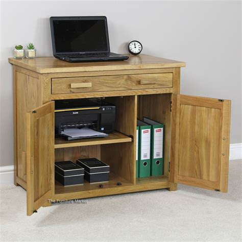 Oak Hideaway Computer Desk For Home Office Minimalist Oak Home Office Desk