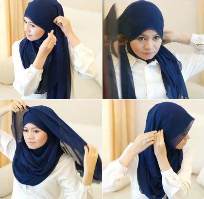 tutorial hijab syar i menutup dada hijab style tutorial hijab menutup dada menggunakan scarf