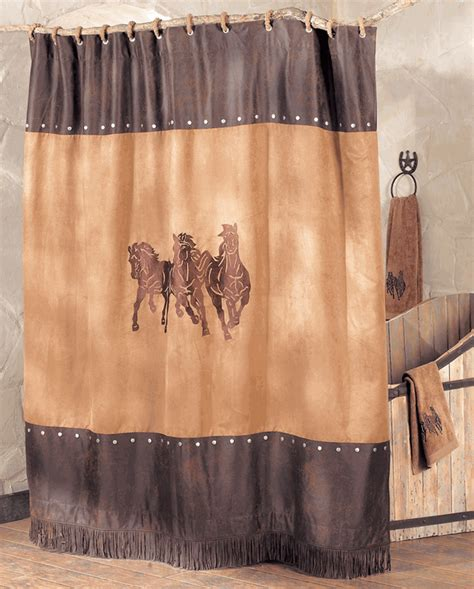 western bathroom shower curtains western shower curtains running horse shower curtain lone