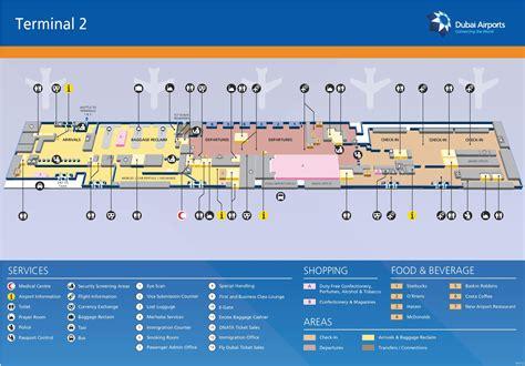 dubai airport floor plan dubai airport terminal 2 map