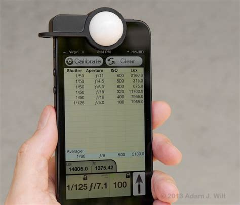 best light meter app for iphone luxi iphone light meter 187 petagadget