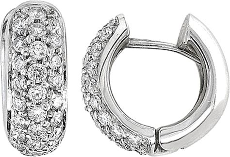 0 34 Cts White Si2 huggie earrings white gold view details for jade