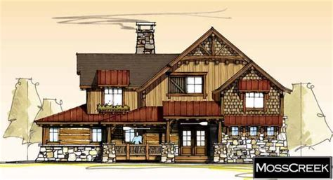 Mosscreek Timber Frame Plans Rustic Craftsman Post And Moss Creek Timber Frame House Plans