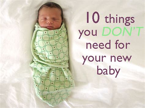 Ten Things You Don T Need To Buy For Your New Baby
