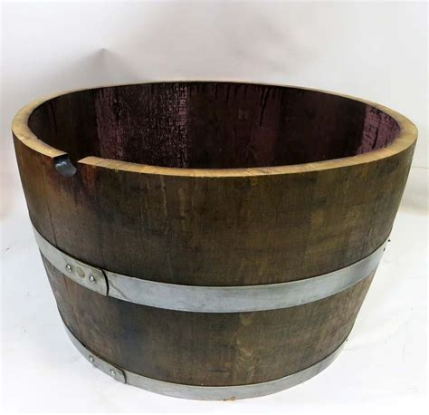 Oak Barrel Planter by Green Garden Depot Regular Half Barrel Planter 100