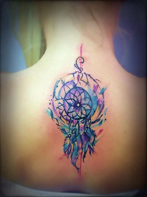 watercolor dreamcatcher tattoos 60 dreamcatcher designs 2017