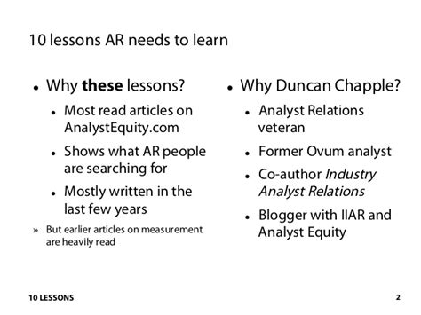10 Lessons Everyone Needs To by 10 Lessons Analyst Relations Needs To Learn