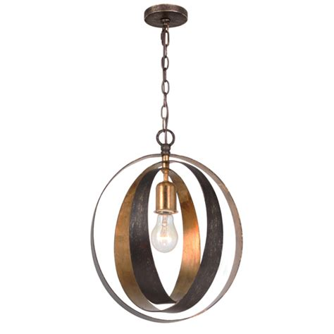 Crystorama Lighting Group Luna English Bronze And Antique Sphere Light Fixtures