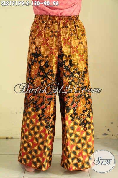 Celana Kulot Sogan Sinaran 2 model celana kulot batik motif sinaran bahan adem desain