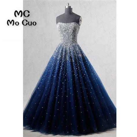 ball gown elegant prom dresses long  beaded sweetheart