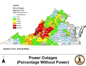 updated power outage map