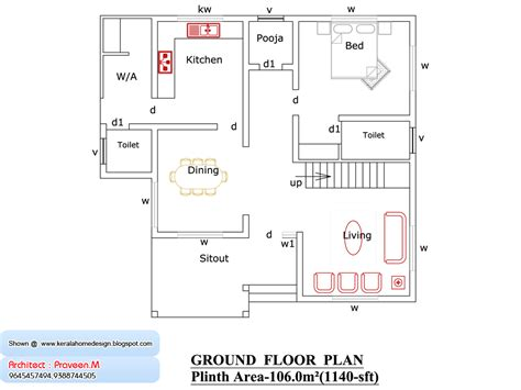 Kerala Home Design 1000 Sq Ft by Kerala Home Plan And Elevation 1800 Sq Ft Kerala