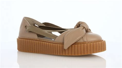 Bow Creepers Sandals Brown rihanna x fenty bow creeper sandal brown gum 365794