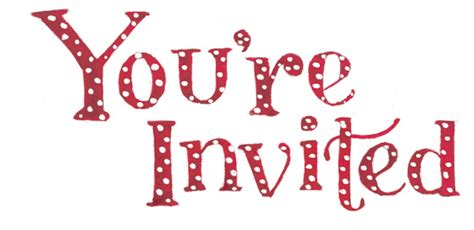 You Are Invited Christmas Clipart Clipart Suggest You Re Invited Template Word