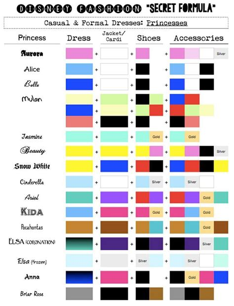 disney princess dress colours search