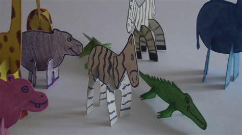 como hacer animales de zoologico en 3d con cartulina c 243 mo hacer animales 3d armables en cart 243 n youtube