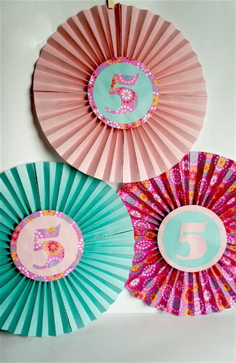 Paper Craft Decorations - paper fan birthday decor think crafts by createforless