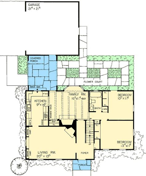 starter or retirement home plan 0891w architectural