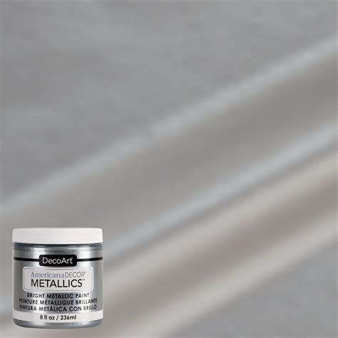 americana decor 8 oz metallic silver paint admtl13 98