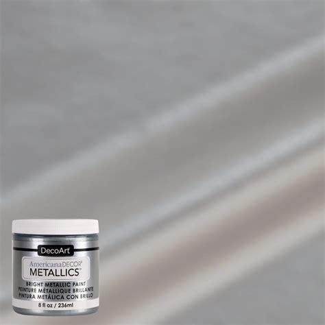 americana decor 8 oz metallic silver paint admtl13 98