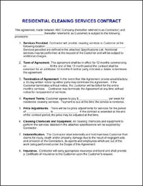 janitorial contracts templates 25 best ideas about cleaning contracts on