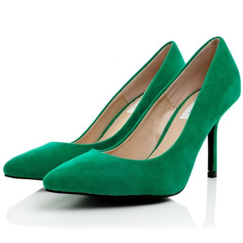 Green Shoes by Buy Cristina Stiletto Heel Court Shoes Green Suede Style