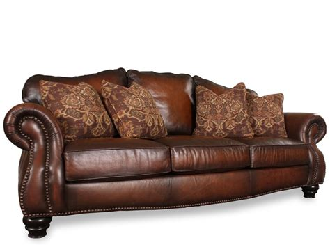 bernhardt chad leather sofa for the home