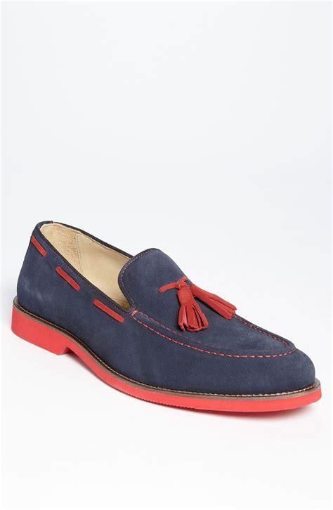 mens blue tassel loafers 1901 colton tassel loafer in blue for marine lyst