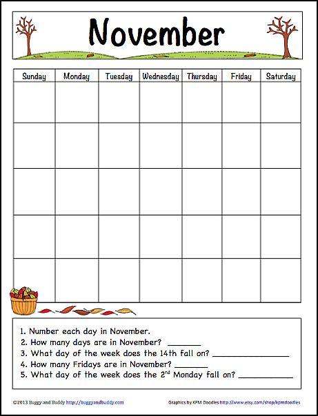 november learning calendar fun family crafts